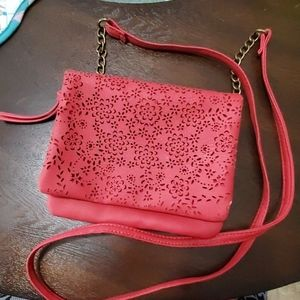 NWOT - Perforated Faux Leather Crossbody Bag